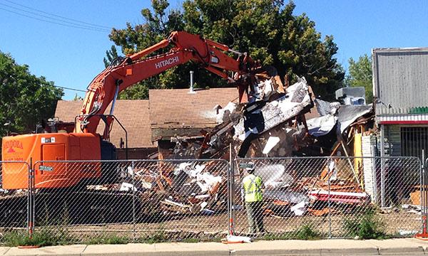 demolition of thriftway in denver