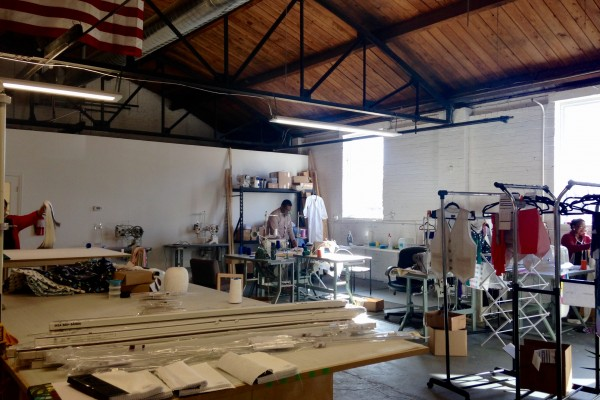 The Knotty Tie studio, which can fully design, manufacture and print custom designs in a single workday.