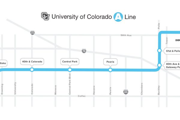 The 40th and Colorado station, which will be the third stop between Union Station and DIA, opened in April 2016.