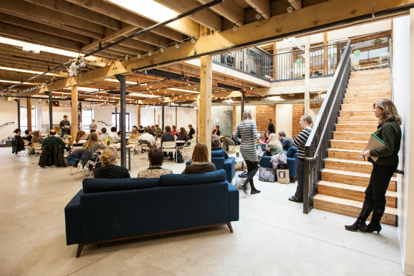 The Posner Center, which houses over 60 organizations, is an excellent example of shared work space in Denver | photo courtesy: Denver Shared Spaces.