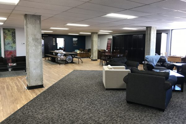 Dry Bones remodeled the entire 4th floor of Mountain View Nonprofit Tower. The project was completely funded by donations, to give homeless youth a safe place to eat, play and relax.