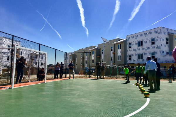 Thriftway Pocket Park and futsal court grand opening in June 2017.
