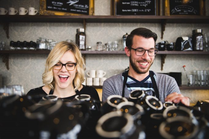Madison Chandler and Mark Smesrud, the founders of Purple Door Coffee | Photo Courtesy, Purple Door Coffee.