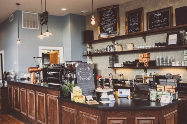 Inside the cafe at Purple Door Coffee |  Photo Courtesy, Sprudge