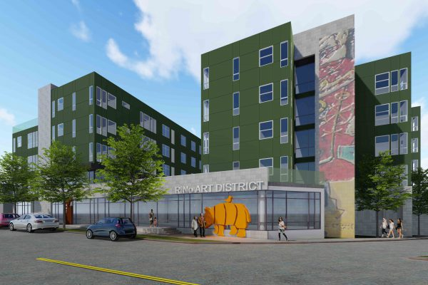 A rendering of the future Walnut Street Lofts, 65 units of affordable housing at 38th and Walnut in the RiNo neighborhood.