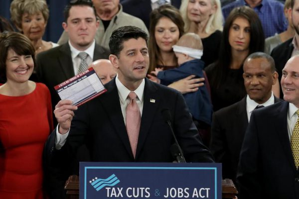 """Speaker of the House Paul Ryan speaks on behalf of the proposed  tax reform bill, known as the """"Tax Cuts and Jobs Act"""". Photo courtesy 