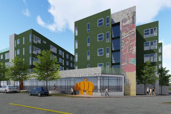 The future Walnut Street Lofts, 66 units of permanently affordable housing in the RiNo/Cole Neighborhood.