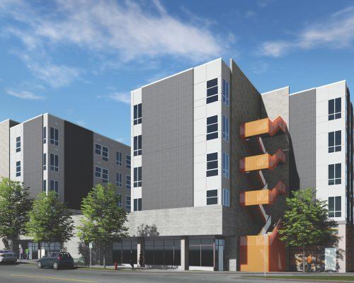 Walnut Street Lofts rendering. Photo courtesy: Kephart | Community | Planning | Architecture