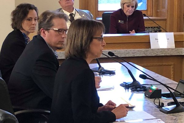 CCLP's Executive Director Claire Levy testifying in support of House Bill 1322. Photo Courtesy: CCLP.