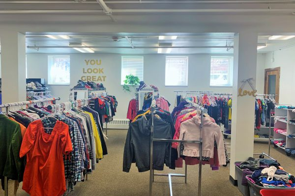The no-cost children's boutique at Wyatt Academy's Family Empowerment Center.